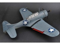 MODELLISMO MERIT MODELLINO ASSEMBLATO AEREO U.S. NAVY SBD-3 DAUNTLESS VB-6 USS ENTERPRISE BATTLE OF MIDWAY 1/18