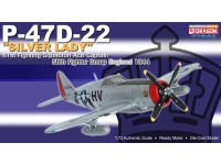 DRAGON MODELLINO MONTATO AEREO P-47 D-22 SILVER LADY 61ST FIGHTING SQUADRON 1944 1/72 IN METALLO