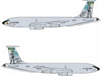 DRAGON MODELLINO ASSEMBLATO AEREO USAF KC-135D 117TH KANSAS ANG 40TH ANNIVERSARY 1/400 IN METALLO