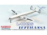 DRAGON MODELLINO ASSEMBLATO AEREO LUFTHANSA L-1049G SUPER CONSTELLATION TIN BOX 1/400