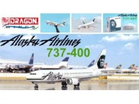 DRAGON MODELLINO ASSEMBLATO AEREO ALASKA AIRLINER 737-400 1/400