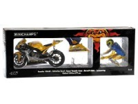 MINICHAMPS MODELLINO MOTO YAMAHA YZR-M1 DIRTY VERSION + PILOTA V. ROSSI GERMANY 2006 1/12