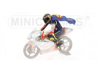 MINICHAMPS MODELLINO PILOTA RIDING ROSSI WORLD CHAMPION GP 1997 IN RESINA