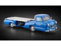 CMC MODELLINO CAMION MERCEDES BENZ RACING CAR TRANSPORTER 1955 THE BLUE WONDER