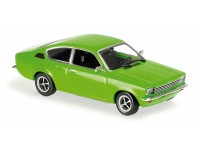 MODELLINO OPEL KADETT C COUPE' 1974 GREEN IN METALLO MINICHAMPS