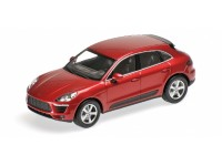 MODELLINO PORSCHE MACAN 2013 RED METALLIC IN METALLO MINICHAMPS