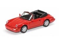 MODEL PORSCHE 911 CARRERA 2 CABRIOLET 1990 RED IN METAL MINICHAMPS