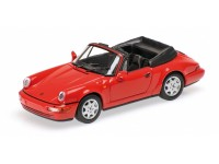 MODELLINO PORSCHE 911 CARRERA 2 CABRIOLET 1990 RED IN METALLO MINICHAMPS
