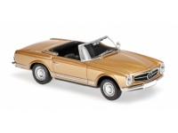 MODELLINO MERCEDES BENZ 230SL 1965 GOLD METALLIC IN METALLO MINICHAMPS