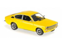 MODELLINO OPEL KADETT C COUPE' 1974 YELLOW IN METALLO MINICHAMPS