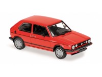 MODELLINO VOLKSWAGEN GOLF GTI 1980 RED IN METALLO MINICHAMPS