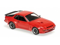 MODELLINO PORSCHE 924 GT 1981 RED IN METALLO MINICHAMPS
