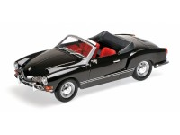MODELLINO VOLKSWAGEN KARMANN GHIA CONVERTIBLE 1970 NERA IN METALLO MINICHAMPS