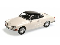 MODELLINO VOLKSWAGEN KARMANN GHIA COUPE' 1970 IVORY & BLACK IN METALLO MINICHAMPS