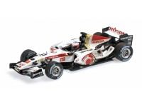 MODELLINO HONDA F1 RACING RA106 BUTTON HUNGARY GP 2006 IN METALLO MINICHAMPS