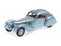 MODELLINO BUGATTI TYPE 57SC ATLANTIC 1936 BLUE METALLIC IN RESINA MINICHAMPS