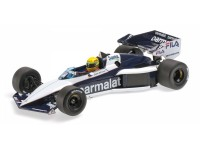 MODELLINO BRABHAM BMW BT52B AYRTON SENNA PAUL RICARD 1983 IN METALLO MINICHAMPS