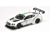 MODELLINO BENTLEY GT3 N.7 BLANCPAIN ENDURANCE SERIES NURBURGRING 2015 IN METALLO ALMOST REAL