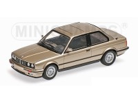MODELLINO BMW SERIE 3 E30 1989 BEIGE METALLIC IN METALLO MINICHAMPS
