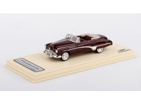 MODELLINO BUICK ROADMASTER CONVERTIBLE 1949 ROYAL MAROON IN RESINA TSM