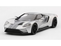 MODELLINO FORD GT CHICAGO AUTO SHOW 2015 INGOT SILVER TOP SPEED IN RESINA TSM
