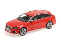MODELLINO AUDI RS6 AVANT 2013 ROSSA IN METALLO MINICHAMPS