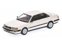 MODELLINO AUDI V8 1988 WHITE IN METALLO MINICHAMPS