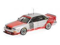 MODELLINO AUDI V8 TEAM SMS MOTORSPORT HAUPT DTM 1992 IN METALLO MINICHAMPS