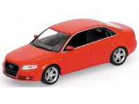 MODELLINO AUDI A4 2004 RED IN METALLO MINICHAMPS