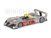 MODELLINO AUDI R10 WINNER 12H SEBRING 2006 CAPELLO KRISTENSEN McCNISH IN METALLO MINICHAMPS