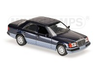 MODELLINO MERCEDES BENZ 230E 1991 BLUE METALLIC IN METALLO MINICHAMPS
