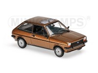 MODELLINO FORD FIESTA 1976 LIGHT BROWN METALLIC IN METALLO MINICHAMPS