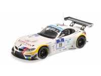 MODELLINO BMW Z4 GT3 TEAM SCHUBERT 24H NURBURGRING 2012 IN PLASTICA MINICHAMPS