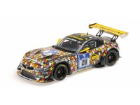 MODELLINO BMW Z4 GT3 E89 TEAM WALKENHORST 24H NURBURGRING 2014 IN PLASTICA MINICHAMPS