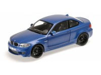 MODELLINO BMW 1ER M COUPE' 2011 BLUE METALLIC IN METALLO MINICHAMPS