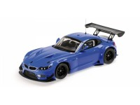 MODELLINO BMW Z4 GT3 2012 BLUE IN PLASTICA MINICHAMPS