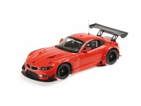 MODELLINO BMW Z4 GT3 2012 RED IN PLASTICA MINICHAMPS