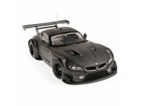 MODELLINO BMW Z4 GT3 2012 MATT BLACK IN PLASTICA MINICHAMPS