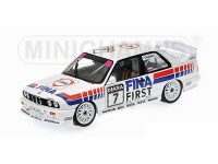 MODELLINO BMW M3 E30 TEAM FINA JOHNNY CECOTTO DTM 1992 IN METALLO MINICHAMPS