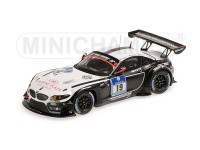 MODELLINO BMW Z4 GT3 BMW SPORTS TROPHY TEAM SCHUBERT 24H NURBURGRING 2014 IN RESINA MINICHAMPS