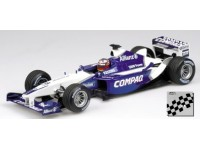 MODELLINO WILLIAMS BMW FW24 J.P. MONTOYA 2002 IN METALLO MINICHAMPS