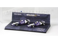 MODELLINI WILLIAMS BMW FW24 MALAYSIAN GP 2002 1-2 FINISH SET IN METALLO MINICHAMPS