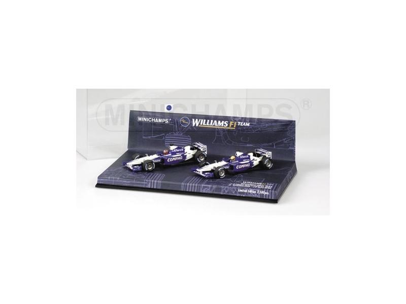 MODELLINI WILLIAMS BMW FW24 MALAYSIAN GP 2002 1-2 FINISH SET IN METALLO MINICHAMPS