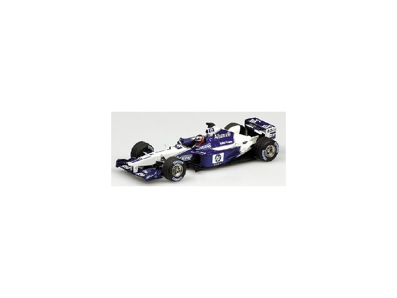 MODELLINO WILLIAMS BMW FW24 HP J.P. MONTOYA 2002 1/43 IN METALLO MINICHAMPS