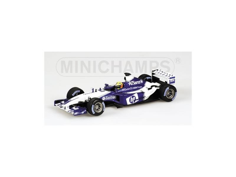 MODELLINO WILLIAMS F1 BMW FW25 R. SCHUMACHER 2003 IN METALLO MINICHAMPS