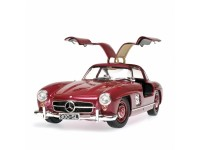 MODELLINO MERCEDES BENZ 300 SL W198I STRAWBERRY RED 1954 IN METALLO MINICHAMPS