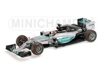 MODELLINO 1/43 MERCEDES AMG W06 HYBRID LEWIS HAMILTON WINNER JAPANESE GP 2015 IN METALLO MINICHAMPS