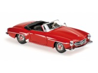 MODELLINO MERCEDES BENZ 190 SL W121 DARK RED 1955 IN METALLO MINICHAMPS