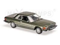 MODELLINO MERCEDES BENZ 450 SLC R107 DARK GREEN METALLIC 1974 IN METALLO MINICHAMPS