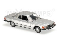 MODELLINO MERCEDES BENZ 450 SLC R107 SILVER 1974 IN METALLO MINICHAMPS